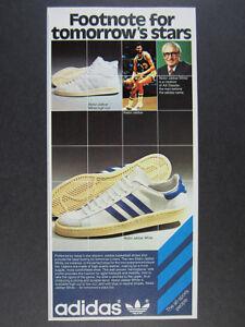 1978 Adidas Abdul Jabbar White shoes Adi Dassler photo vintage print Ad