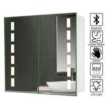 LED Bathroom Mirror Cabinet with Sensor Switch/Demister Pad/Shaver Socket UK