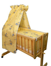 Ausstattung für Wiege - Bettset Harry Bär gelb