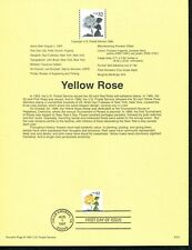 USPS 1997 First Day Issue Souvenir Page, $0.32, Yellow Rose #9721