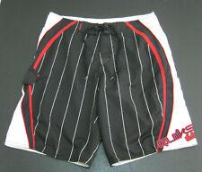 New listing QUIKSILVER Men's (Size 32) Black Red White Board Shorts Swim Swimming Surf Beach