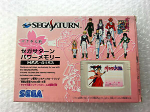 "Sakura Taisen Power Memory Package + Sticker ""Good Condition"" Sega Saturn Japan"