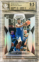 2019-20 Panini Prizm Zion Williamson Rookie Card RC Silver BGS 9.5  Gem Mint