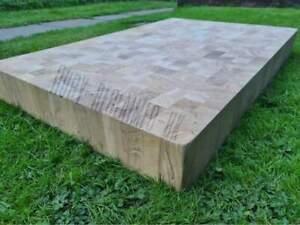 End grain solid oak butchers blocks 940mm x 610mm table tops