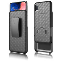 Samsung Galaxy A01 Shell Holster Combo Case with Kick-Stand & Belt Clip