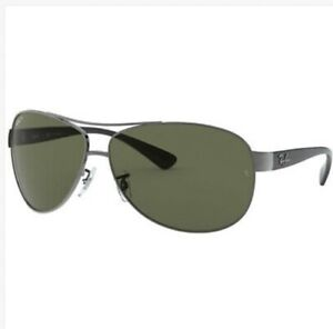 Ray Ban Aviator Sunglasses Gunmetal Black RB 3386 004/71 63mm Authentic.