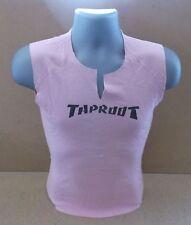 TAPROOT Logo UK pink sleeveless promo ladies t-shirt NEW/UNWORN Medium