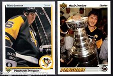 Mario Lemieux HOF | LOT x2 | Upper Deck | 1990-91 #144 | 1991-92 #156