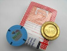 PALMS CASINO HOTEL Vintage Las Vegas CARDS & $1 CHIP & $1 TOKEN