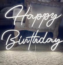 Happy Bithday Neon Sign Available For Hire Only Message Before Payment