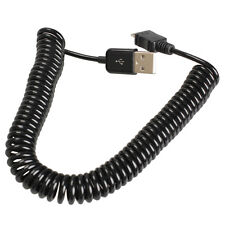 Spiral Coiled USB 2.0 A Male to Micro USB B Connector 5Pin Adaptor Spring Cable