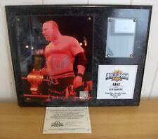 WWE - Kane - Wrestlemania 24 - official signed plaque