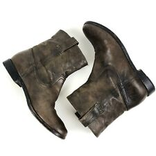 Frye Women's Ankle Boots Anna Shortie Size 8 Brown Soft Leather Cowboy Booties