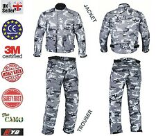 Camo Waterproof Motorcycle Trouser Jacket Armour Thermal Motorbike 2 Piece Suit 3xl 2xl