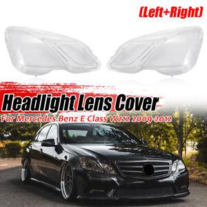Pari Headlight Lens Cover Clear Lampshade For Mercedes Benz E Class W212 2009-12