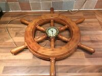Vintage Smiths Sectric Ships Wheel Clock Maritime Marine Nautical Boat