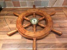 Vintage Smiths Sectric Ships Wheel Clock Maritime Marine Nautical Boat
