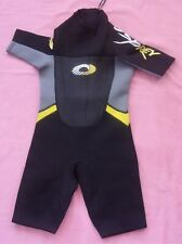 "OSPREY Child's Shortie Wetsuit - Black, Grey, Yellow - Junior Small - Chest 26""+"