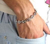Bracelet Grain De Café Argent Massif 925/1000 Bijoux Homme Neuf