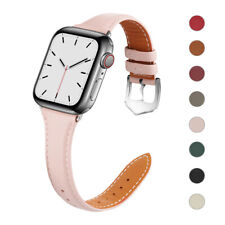 Slim Leather Band Women Strap for Apple Watch Series 6 5 4 3 2 iWatch SE 40/44mm