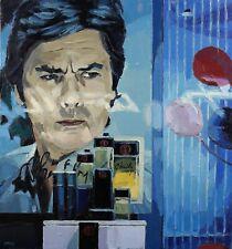 Arthur A. KELLER (1958) Portrait d'Alain Delon acteur parfum mode EGO ENEMIGO