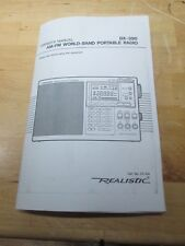Radio Shack Realistic DX-390 LW/MW Shortwave Voice of World Receiver Manual COPY