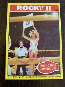 """Taaffe O'Connell """"Ring Girl"""" 1979 Rocky Movie Signed AUTOGRAPHED Trading Card"""
