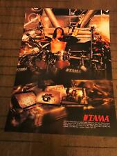 1992 Vintage 8X11 Print Ad For Tama Drums With Scott Travis Of Judas Priest