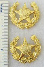 Vintage Pair of HONDURAS ARMY SENIOR OFFICER COLLAR PIN IINSIGNIA ORIGINAL