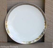 "Vintage Fukagawa Silver Lichen 6-1/2"" Bread & Butter Plate Pattern 917 ~ Japan"