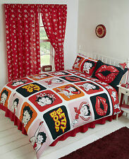 BETTY BOOP ORANGE RED PINK PICTURE PERFECT RED LIPS SUPER KING DUVET COVER SET