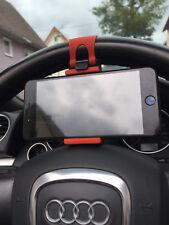 Rot Universal Handy KFZ Auto Lenkrad Halter Halterung für Iphone Samsung JO
