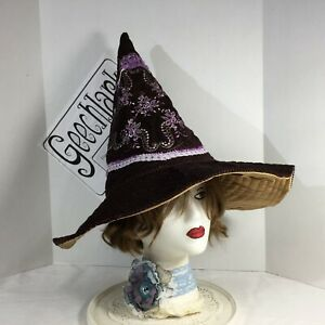 Hedge witch hat, wizard, wiccan, brown, magic, cosplay, L, Geechlark 6241