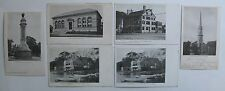 Arlington, Ma. 6 Postcards 1905-1910 COOPER TAVERN, BOAT CLUB, SOLDIERS MONUMENT