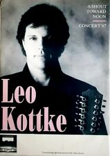 KOTTKE, LEO - 1987 - Tourplakat - Shout Toward Moon - Tourposter
