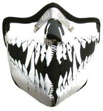 BIKER MASKE - Motorrad Face Mask Maske Sturmhaube Gesichtsschutz SKULL TEETH
