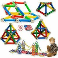103x 206x Magnetic Building Sticks Blocks Toys Non-Toxic Building Toy 3D Puzzle