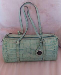 Dooney & Bourke Nile Collection Croco Lime Green Barrel Bag Shoulder Bag