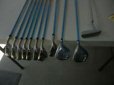 Womens Ladies HiPPO X-P2 golf club set, 11 clubs incl irons, 5 + 3 woods, putter