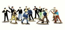 C002  DAPOL KITMASTER RAILWAY WORKMEN SET OF39  PLASTIC MODEL KIT UNPAINTED