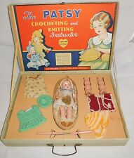 "1936 Effanbee Patsy Crocheting & Knitting Instructor Craft Kit 8"" Tinyette Doll"