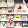 3D Pop Up Card Invitation Greeting Cards Handmade Valentine Love Wedding Gifts