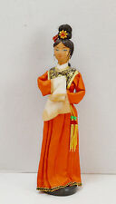 """Vintage Asian Oriental Cloth Geisha Doll Hand Made Hand Painted Face 12"""""""