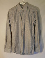 Zanella Herbert Point Collar Blue Stripe Button Down Small