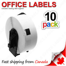 10 Rolls of DK-1201 BROTHER® Compatible Labels With 1 Reusable Cartridge