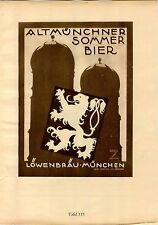 1926 Ludwig Hohlwein Poster Print Lowenbrau Beer Joseph Schnaiger