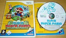 Wii ; (Klasse) SUPER PAPER MARIO <-> Nintendo Spiel - tolles Spiel - komplett