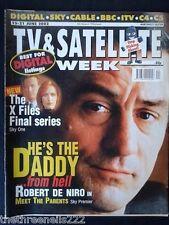 TV & SATELLITE WEEK - ROBERT DE NIRO - 15 JUNE 2002