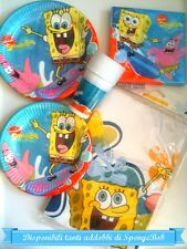 Coordinated table complete Spongebob Party Decorations Set Kit birthday plates