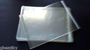 50-  8 3/4 x 11 1/4 Clear Resealable Poly Cello Cellophane Bags 8.5x11 Prints